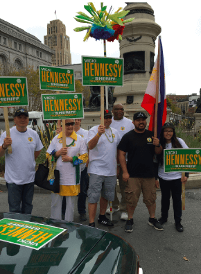 Hennessey supporters