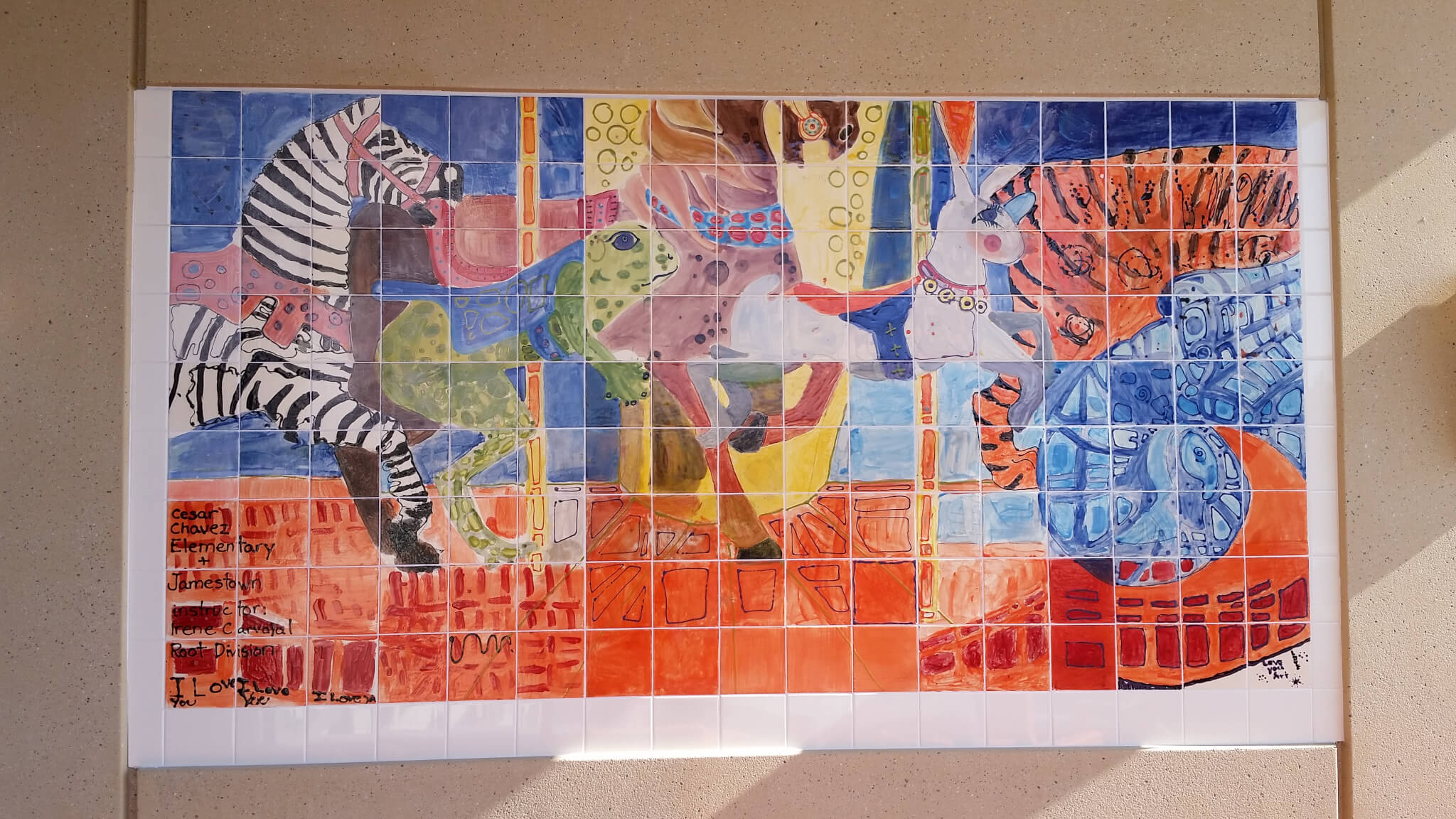 Art part of healing design at ucsf medical center for Cesar chavez mural